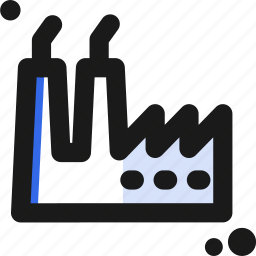 factory, industrial, pollute icon