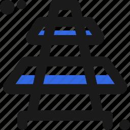 rails, train, transportation, wagon icon