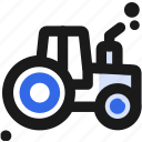 agriculture, construction, farm, machine, tractore, transportation icon
