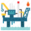 buildings, gas, industry, oil, plant, pollution, power icon