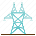 architecture, electricity, energy, industry, line, power icon