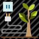 earth, ecologic, green, planet, plug, sustainability icon