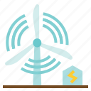 device, ecologic, energy, industry, kinetic, turbine icon