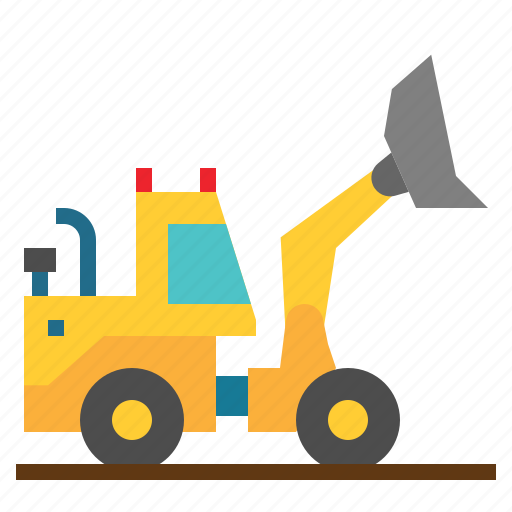 construction, excavator, industry, machine, transport, work, working icon