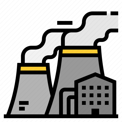 buildings, chimney, cooling, industry, nuclear, tower icon
