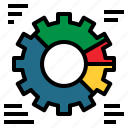 business, chart, cogwheel, marketing, pie, settings, statistics icon