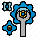 and, cogwheel, configuration, gear, industry, settings, tools icon