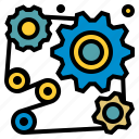 cogwheel, cogwheels, configuration, gear, industry, settings, tools icon