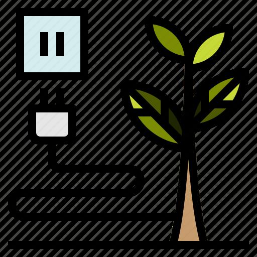 earth, ecologic, energy, planet, plug icon