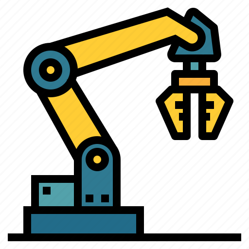 factory, industrial, industry, manipulator, mechanical, robot icon