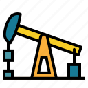 buildings, extraction, industry, oil, petroleum, pumpjack icon