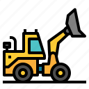 construction, excavator, industry, machine, transport, work, working icon