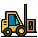 fork, industrial, industry, lift, transport, truck, vehicle icon