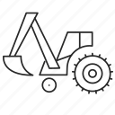construction, dig, digger, industry, technology, tractor