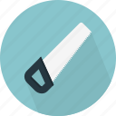 carpentry, construction, hard toothed, saw, tool, wood, work icon