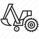 construction, dig, digger, industry, technology, tractor icon