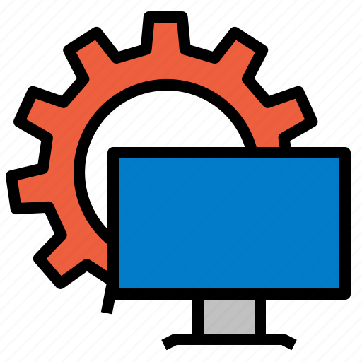 computer, control, panel, settings, system icon