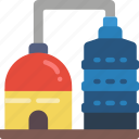 factory, industrial, machinery, machines, silos icon