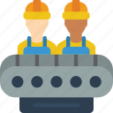 factory, force, industrial, machinery, machines, work icon