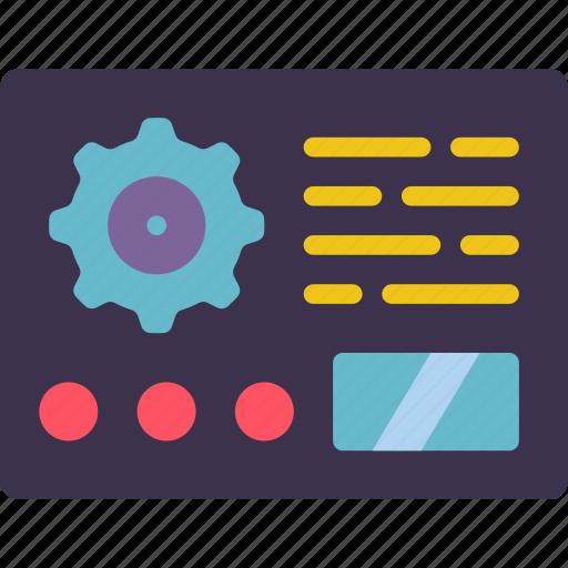 data, factory, industrial, industry, machine, machinery, machines icon