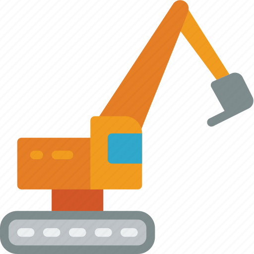 excavator, factory, industrial, industry, machinery, machines, manufacture icon