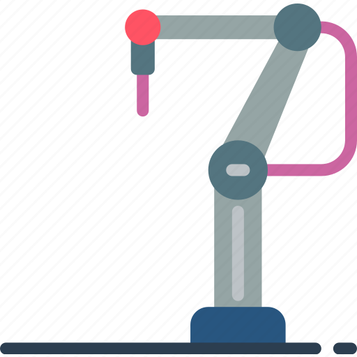 arm, factory, industrial, machinery, machines, robotic icon