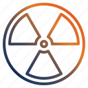 atomic, healthcare, nuclear, radiation icon