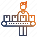 careerladder, conveyor, conveyorbelt, production, productionline icon