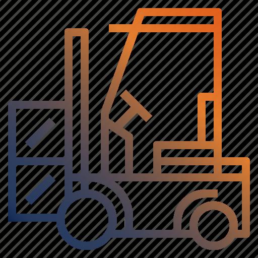fork, forklift, lift, loader, logistic icon