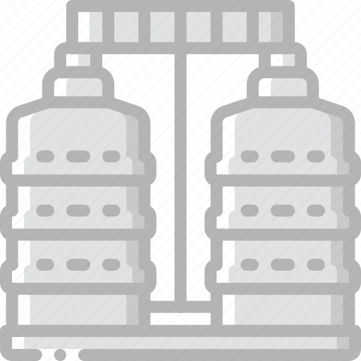 factory, industrial, industry, machines, manufacture, silos icon