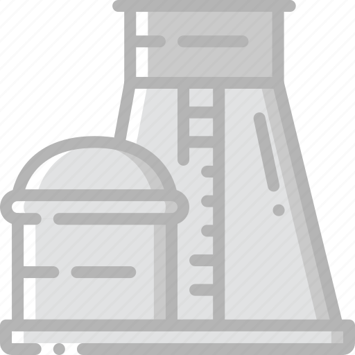 factory, industrial, industry, machines, manufacture, nuclear, plant icon