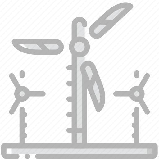 factory, farm, industrial, industry, machines, manufacture, wind icon