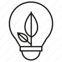 bulb, eco, electricity, leaf, light, nature, seed icon