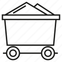 cart, coal, energy, industry, mining icon