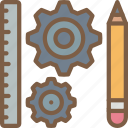 factory, industrial, industry, machines, manufacture, tools icon