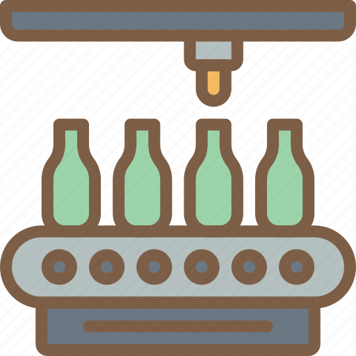 bottle, factory, industrial, industry, machines, manufacture, manufacturing icon