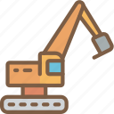 excavator, factory, industrial, industry, machines, manufacture icon