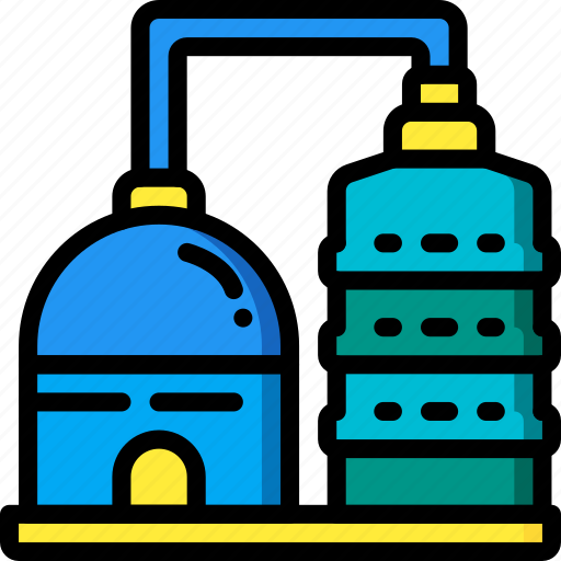 Factory, industrial, industry, machines, manufacture, silos icon - Download on Iconfinder