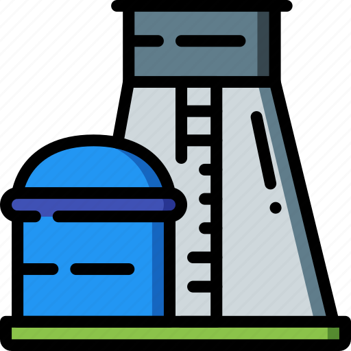 Factory, industrial, industry, machines, manufacture, nuclear, plant icon - Download on Iconfinder
