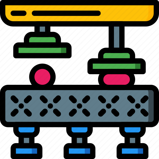 Conveyor, factory, industrial, industry, machines, manufacture icon - Download on Iconfinder