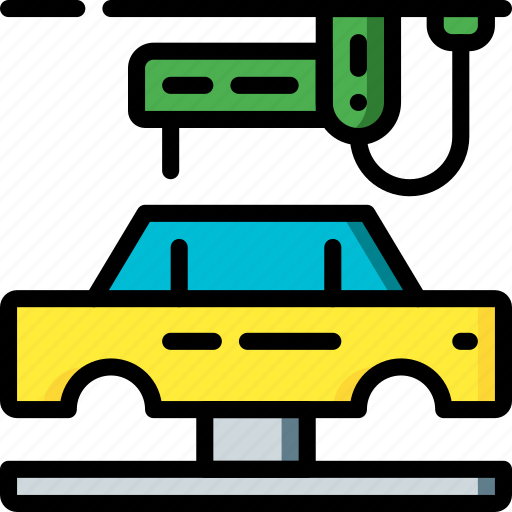 Car, factory, industrial, industry, machines, manufacture, manufacturing icon - Download on Iconfinder