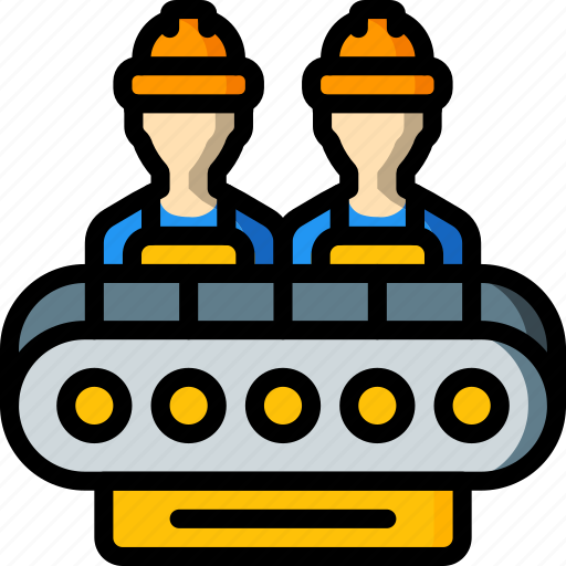 factory, force, industrial, industry, machines, manufacture, work icon