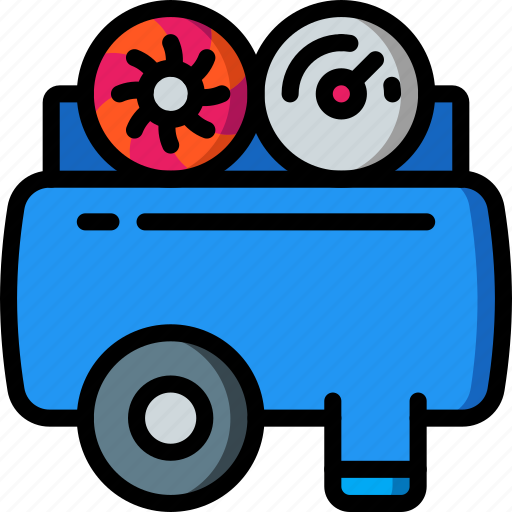 Compressor, factory, industrial, industry, machines, manufacture icon - Download on Iconfinder