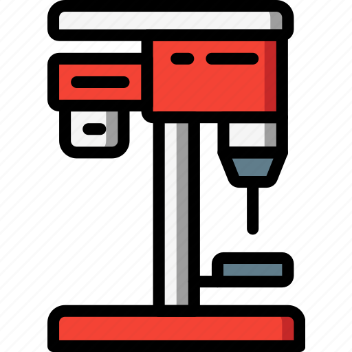 desk, drill, factory, industrial, industry, machines, manufacture icon