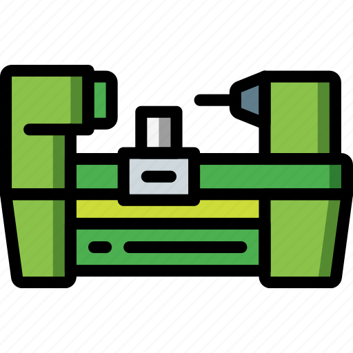 Factory, industrial, industry, lathe, machines, manufacture icon - Download on Iconfinder