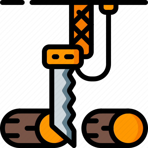chop, factory, industrial, industry, machines, manufacture, wood icon