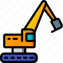 excavator, factory, industrial, industry, machines, manufacture