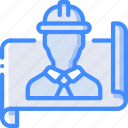 manufacture, industrial, industry, factory, manager, plan, machines icon