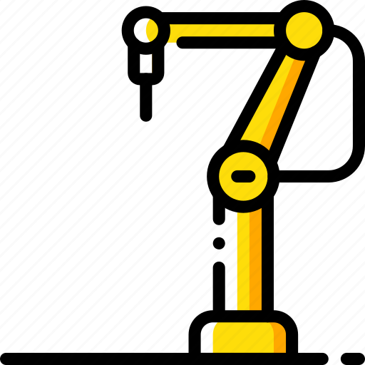 arm, factory, industrial, industry, machines, manufacture, robotic icon