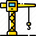 crane, factory, industrial, industry, machines, manufacture icon